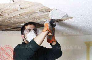 Пример демонтажа потолка